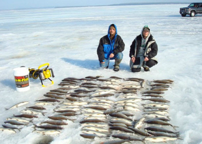 ice fishing guides door county