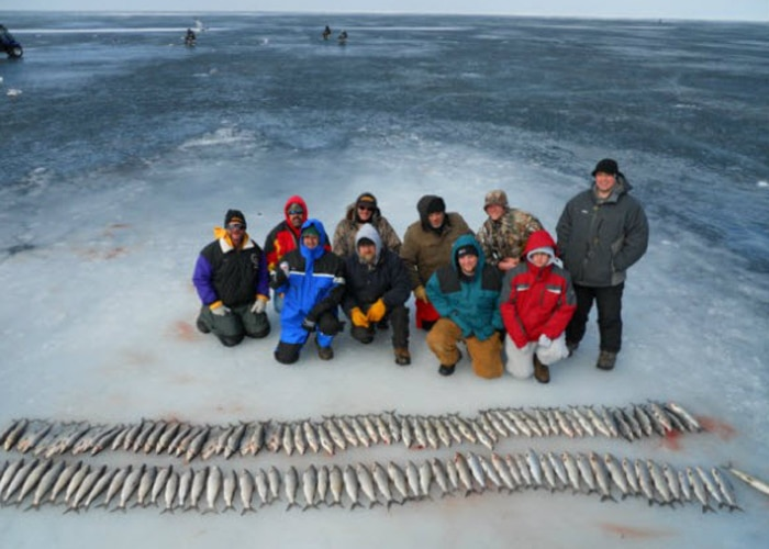 door county ice fishing guide